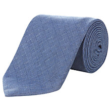 Buy Aquascutum Woven Check Silk Tie, Blue Online at johnlewis.com