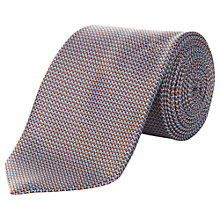 Buy Aquascutum Zigzag Silk Tie, Blue/Brown Online at johnlewis.com