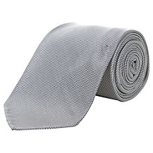 Buy Aquascutum Micro Check Silk Tie, Grey Online at johnlewis.com