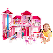 Buy Barbie Malibu House And Entrepreneur Barbie Doll Online at johnlewis.com