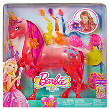 Buy Barbie and the Secret Door Unicorn Doll Online at johnlewis.com