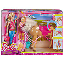 Buy Barbie Feel & Cuddle Tawny Horse Set Online at johnlewis.com
