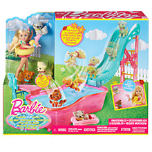 Buy Barbie Chelsea Flippin' Pup Pool Party Online at johnlewis.com