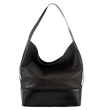 Buy Kin by John Lewis Spafield Leather Slouchy Bucket Bag, Black Online at johnlewis.com