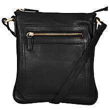 Buy John Lewis Small Across Body Leather Carlyle Bag, Black Online at johnlewis.com