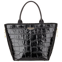 Buy Modalu Oxford Small Leather Shopper Bag, Black Croc Online at johnlewis.com