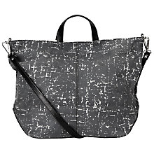 Buy Kin by John Lewis Gibert Leather Grab Bag, Black/White Online at johnlewis.com