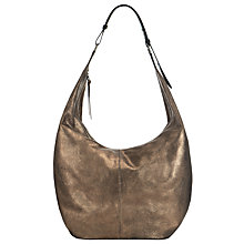 Buy Collection WEEKEND by John Lewis Large Bailey Leather Hobo Bag, Bronze Online at johnlewis.com