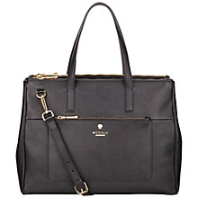 Buy Modalu Phoebe Large Leather Shoulder Bag, Black Online at johnlewis.com