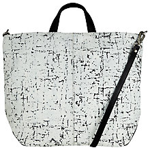 Buy Kin by John Lewis Gibert Leather Grab Bag, White/Black Online at johnlewis.com