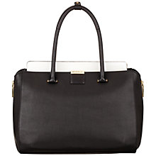 Buy Modalu Westbourne Small Leather Tote Bag, Black/White Online at johnlewis.com