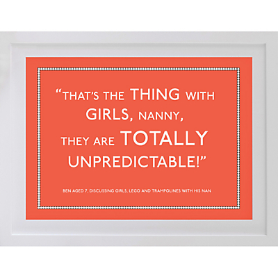 Betsy Benn Personalised Quote Framed Print, White Frame, 37.7 x 48.7cm