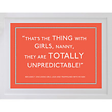 Buy Betsy Benn Personalised Quote Framed Print, White Frame, 37.7 x 48.7cm Online at johnlewis.com