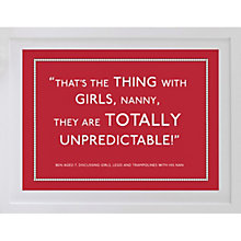 Buy Betsy Benn Personalised Quote Framed Print, Bright Red, 37.7 x 48.7cm Online at johnlewis.com