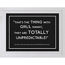 Buy Betsy Benn Personalised Quote Framed Print, Black, 37.7 x 48.7cm Online at johnlewis.com