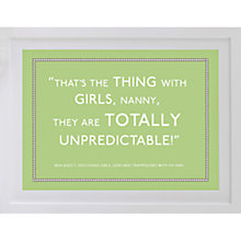 Buy Betsy Benn Personalised Quote Framed Print, Apple, 37.7 x 48.7cm Online at johnlewis.com