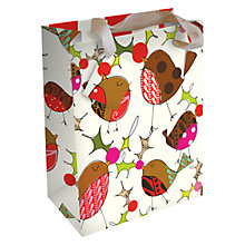 Buy Caroline Gardner Christmas Robin Gift Bag Online at johnlewis.com