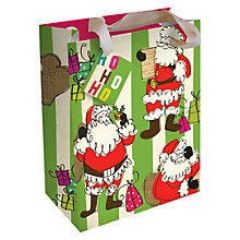 Buy Caroline Gardner Father Christmas Large Giftbag Online at johnlewis.com