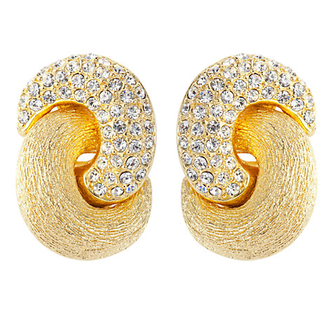 Buy Susan Caplan Vintage 1980s Christian Dior Swarovski Crystal Love Knot Clip-On Earrings Online at johnlewis.com
