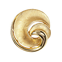 Buy Susan Caplan Vintage 1960s Trifari Modernist Swirl Brooch, Gold Online at johnlewis.com