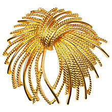 Buy Susan Caplan Vintage 1960s Monet Textured Flourish Brooch, Gold Online at johnlewis.com