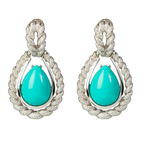 Buy Susan Caplan Vintage 1970s Avon Faux Turquoise Rope Textured Clip-On Earrings Online at johnlewis.com