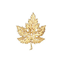 Buy Susan Caplan Vintage 1960s Trifari Cut-Out Leaf Brooch, Gold Online at johnlewis.com