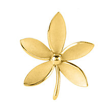 Buy Susan Caplan Vintage 1950s Trifari Textured Posy Brooch, Gold Online at johnlewis.com