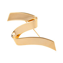 Buy Susan Caplan Vintage 1960s Monet Zigzag Ribbon Brooch, Gold Online at johnlewis.com