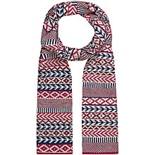Buy Seasalt Boslinney Pretty Cherry Scarf, Pink Online at johnlewis.com