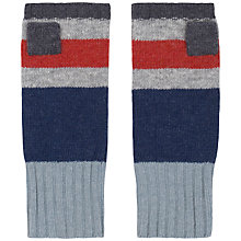 Buy Seasalt Stripe Mittens, French Navy Online at johnlewis.com