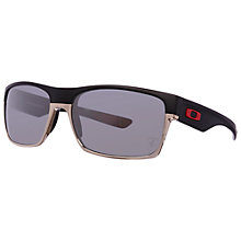 Buy Oakley 9189 Polarised Ferrari Twoface Rectangular Frame Special Edition Acetate Sunglasses, Matte Black Online at johnlewis.com
