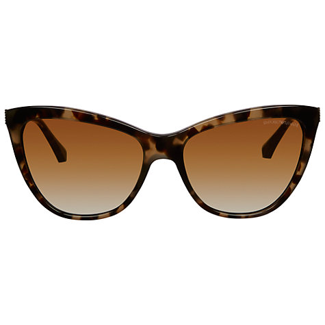 Buy Emporio Armani 0EA4030 Cat's Eye Sunglasses, Havana Online at johnlewis.com