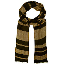 Buy John Lewis Shimmer Stripe Scarf, Gold/Black Online at johnlewis.com
