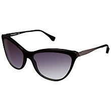 Buy Emporio Armani 0EA4030 50178G Catseye Sunglasses, Black Online at johnlewis.com
