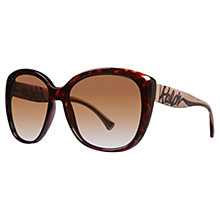 Buy Ralph 0RA5177 502/T5 Oversized Square Sunglasses, Tortoise Online at johnlewis.com