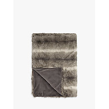 Buy John Lewis Faux Fur Throw, Ombre Mocha Online at johnlewis.com