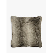 Buy John Lewis Ombre Faux Fur Cushion, Mocha Online at johnlewis.com
