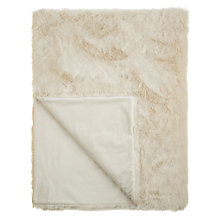 Buy John Lewis Faux Fur Throw, Natural Cream Online at johnlewis.com