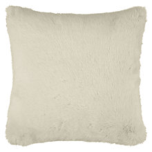 Buy John Lewis Faux Fur Cushion, Cream Online at johnlewis.com