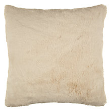 Buy John Lewis Faux Fur Cushion, Large, Cream Online at johnlewis.com