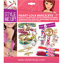 Buy Style Me Up Heart Lock Bracelets Kit Online at johnlewis.com