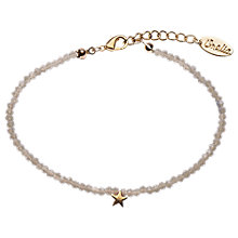 Buy Orelia Tiny Bead Star Bracelet, Grey Online at johnlewis.com