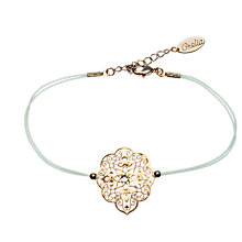 Buy Orelia Filigree Glass Friendship Bracelet, Green Online at johnlewis.com