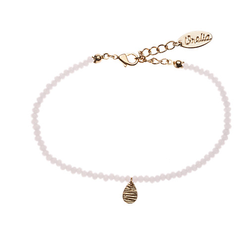 Buy Orelia Teardrop Bead Bracelet, Pink Online at johnlewis.com