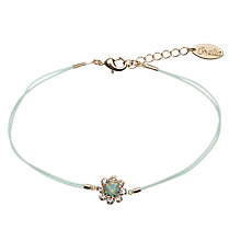 Buy Orelia Stone Flower Friendship Bracelet, Green Online at johnlewis.com