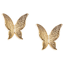 Buy Orelia Origami Butterfly Stud Earrings, Gold Online at johnlewis.com