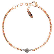 Buy Finesse Swarovski Pave Ball Bracelet, Rose Gold Online at johnlewis.com
