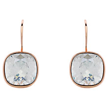 Buy Melissa Odabash Cushion Cut Swarovski Crystal Drop Earrings, Moonlight/Rose Gold Online at johnlewis.com
