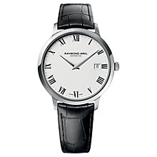Buy Raymond Weil 5588-STC-00300 Men's Toccata Leather Strap Watch, Black Online at johnlewis.com